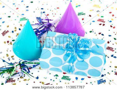 Blue Polka Dot Present