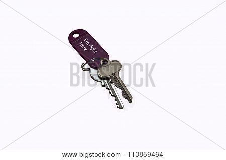 Metal Keys On A Key Holder