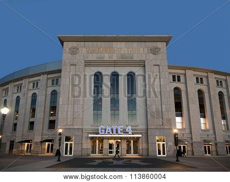 New Yankee Stadium At Evening