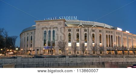 New Yankee Stadium At Evening