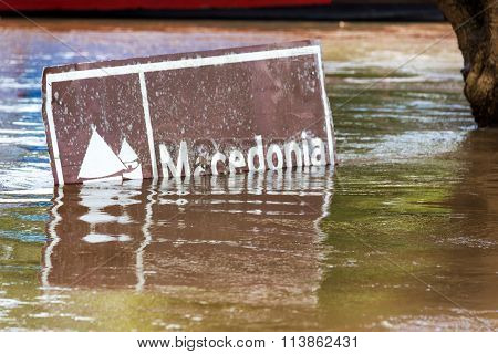 Flooded Sign In Colombia