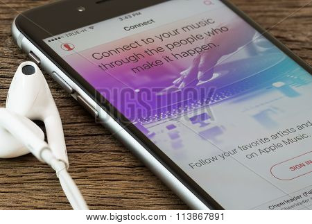 Bangkok, Thailand - Dec 22, 2015 : Music Application For Iphone On Appstore, Iphone Developed By App