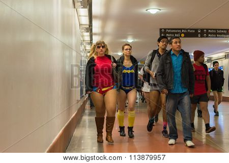 Women On The Subway Without Pants