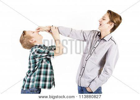 Two Teen Boys Quarrel
