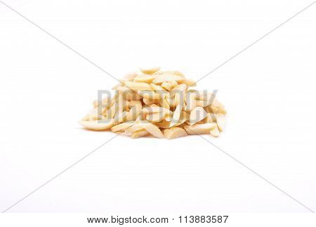 Almond Slivers On White