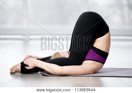 Senior Woman Doing Ear Pressure Pose