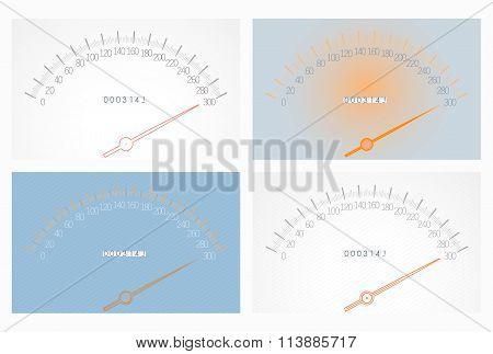 Set Of Realistic Speedometers
