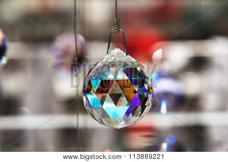 Faceted Crystal Hanging Ball