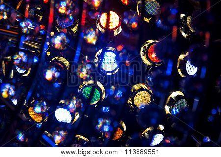 Art Lightening System On Dark Background