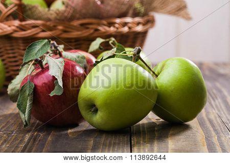 Apples Near Basket