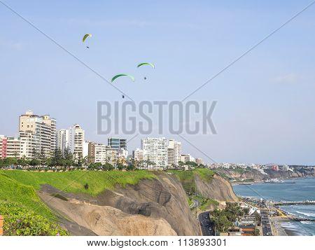 Flying Over Miraflores