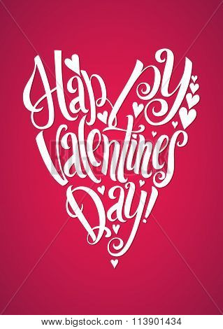Happy Valentine's Day Valentines Day Lettering Background