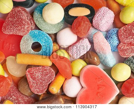 Pile of chewing candies