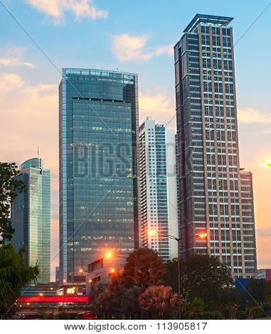 Downtown Of Jakarta, Indonesia