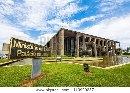Ministry Of Justice Building In Brasilia, Brazil