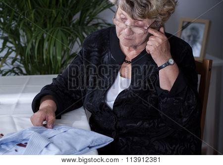 Widow Missing Her Husband