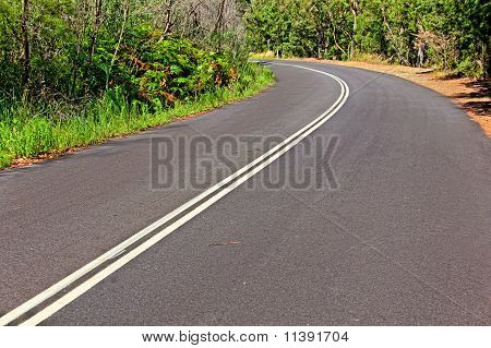 Bend in a winding country road