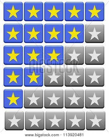 Rating Buttons Grey Blue