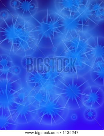 star background with many overlapping stars in different tones poster