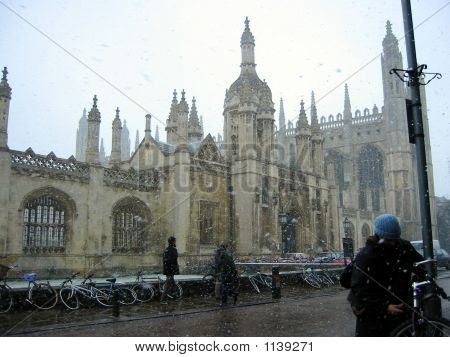 Cambridge In Snow