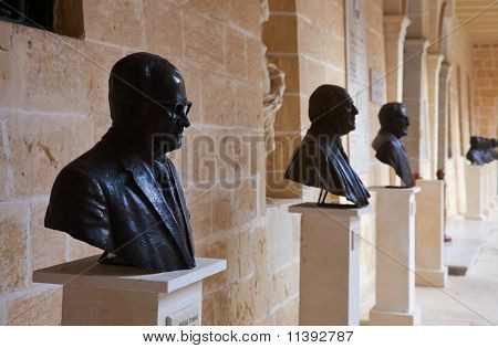 Busts Of Presidents In San Anton Palace