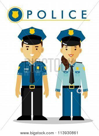 Police officer in uniform