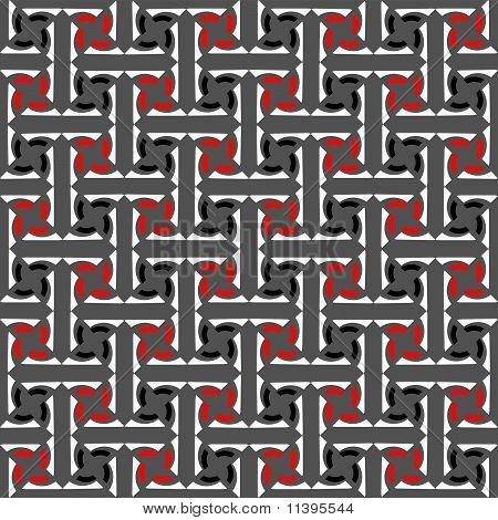 Seamless decorative labyrinthine pattern.