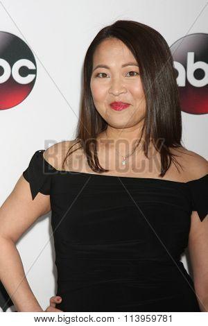 LOS ANGELES - JAN 9:  Suzy Nakamura at the Disney ABC TV 2016 TCA Party at the The Langham Huntington Hotel on January 9, 2016 in Pasadena, CA