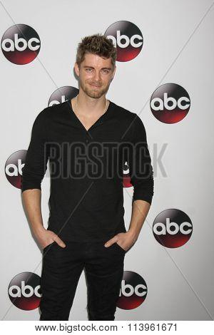 LOS ANGELES - JAN 9:  Luke Mitchell at the Disney ABC TV 2016 TCA Party at the The Langham Huntington Hotel on January 9, 2016 in Pasadena, CA