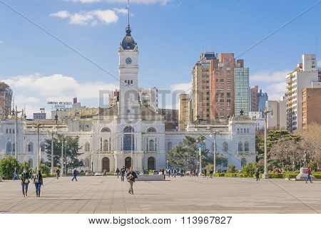 Government Palace At Moreno Square In La Plata Buenos Aires