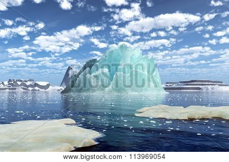 Rendering Of An Iceberg