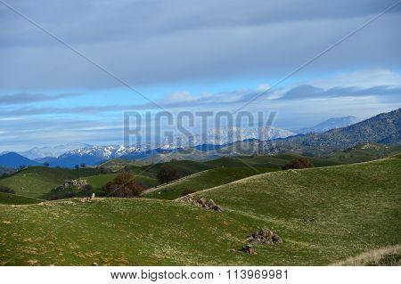 Snow in the Sierras