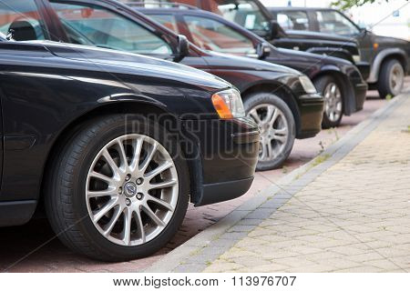 Street parked cars
