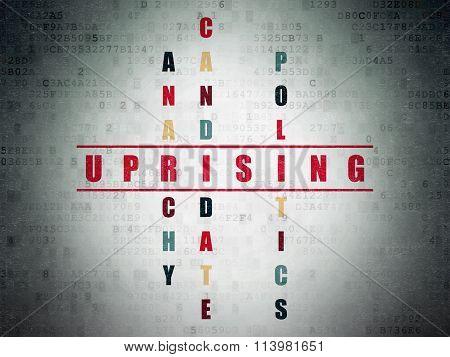 Politics concept: Uprising in Crossword Puzzle