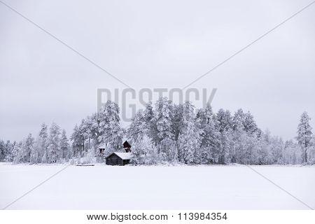 Snowy White Winter Island