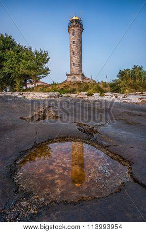 Shining Lighthouse In Savudrija, Istria, Croatia