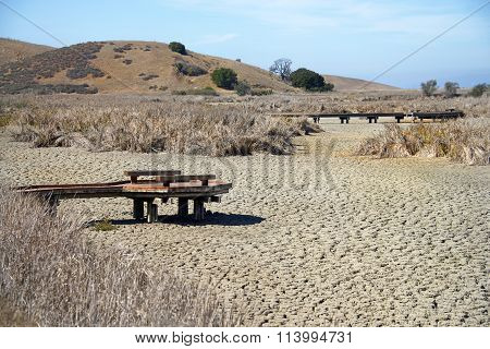 Drought raged Coyote Hills Northern California October 2014