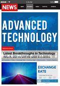 Advanced Technology Innovation Evolution Futuristic Concept poster
