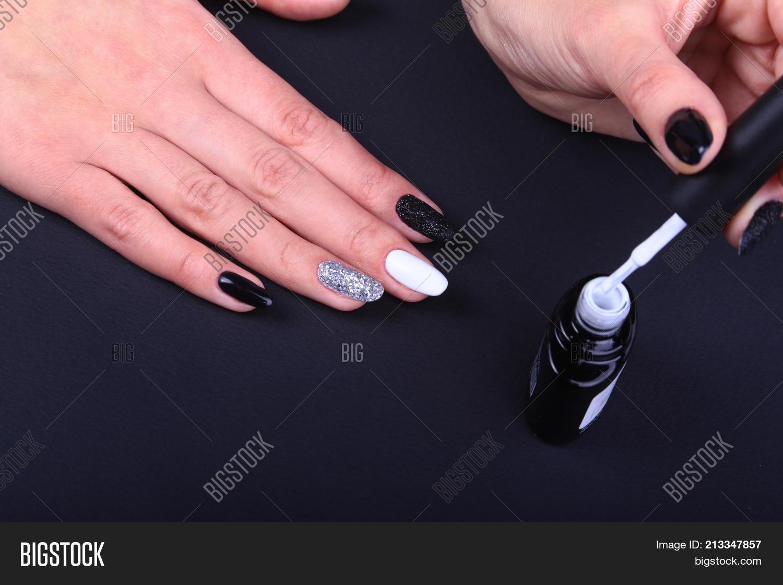 Black, White Nail Art Image & Photo (Free Trial)   Bigstock
