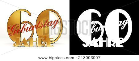 Number Sixty Years (60 Years) Celebration Design. Anniversary Golden Number Template Elements For Yo