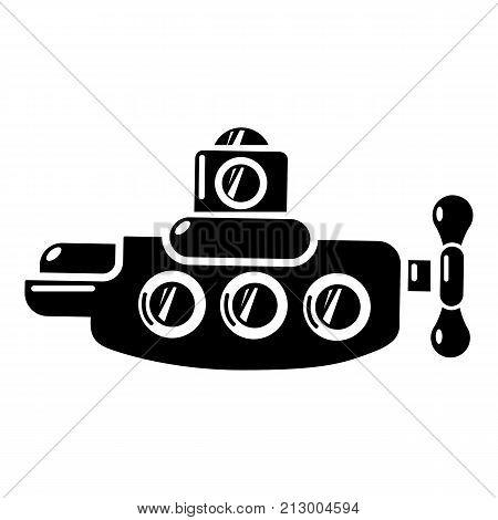 Submarine nautical icon. Simple illustration of submarine nautical vector icon for web