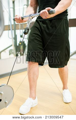 Power muscular man gym sport concept. Lifestyle of athlete. Strength of will.