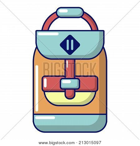 Backpack schoolboy icon. Cartoon illustration of backpack schoolboy vector icon for web