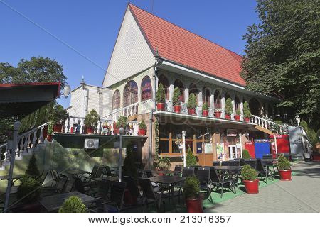 Sochi, Hosta District, Krasnodar region, Russia - July 14, 2016: Cafe