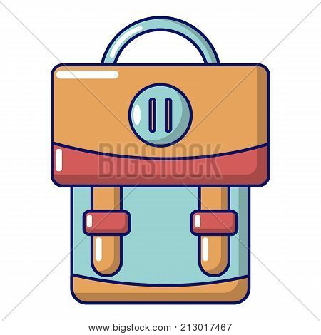 Backpack luggage icon. Cartoon illustration of backpack luggage vector icon for web