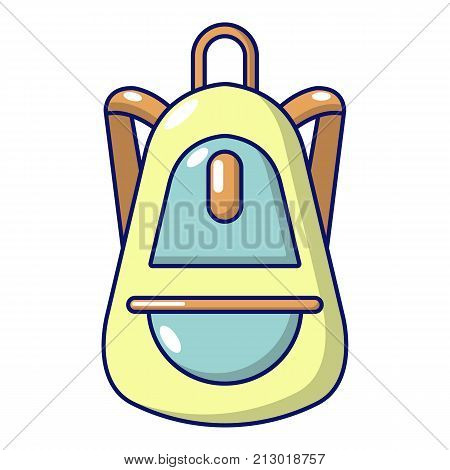 Backpack baggage icon. Cartoon illustration of backpack baggage vector icon for web