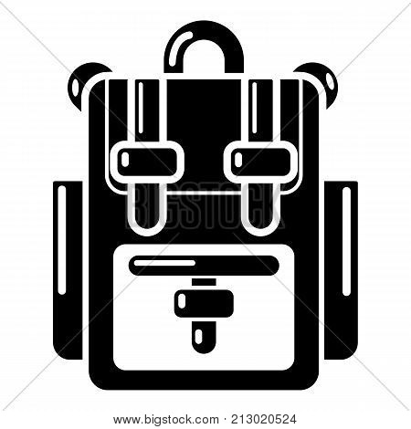 Backpack adventure icon. Simple illustration of backpack adventure vector icon for web