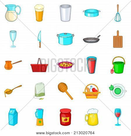 Capacity icons set. Cartoon set of 25 capacity vector icons for web isolated on white background
