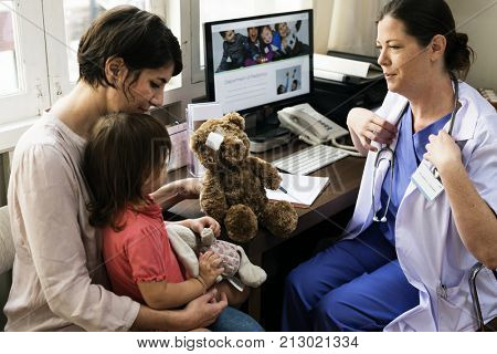 Young patient is getting a diagnose from doctor