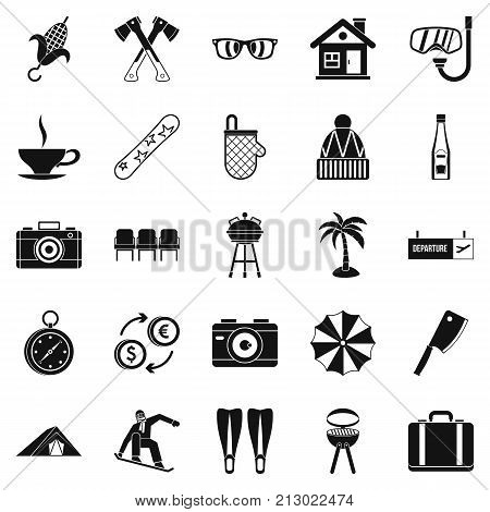 Leave of absence icons set. Simple set of 25 leave of absence vector icons for web isolated on white background